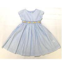 【新作SALE】Malvi&Co.(マルヴィー) リモーネ刺繍ワンピース/スカイブルーストライプ