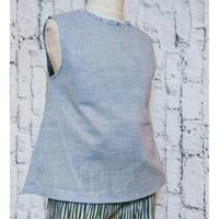 【新作SALE】Malvi&Co.(マルヴィー) ノースリーブシャツ/ライトブルー