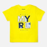 Mayoral(マヨラル)ベビー ベーシックロゴTシャツ/イエロー
