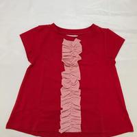 【新作SALE】Malvi&Co.(マルヴィー) ボーダーモチーフAラインTシャツ/レッド