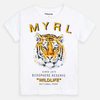 Mayoral(マヨラル)キッズ タイガープリントTシャツ/ホワイト