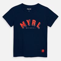 Mayoral(マヨラル)キッズ ベーシックロゴTシャツ/ネイビー