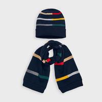 Mayoral(マヨラル)キッズ コットンニット帽+マフラーセット/ネイビー