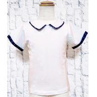 【新作SALE】Malvi&Co.(マルヴィー) お襟Tシャツ/ネイビーパイピング
