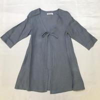 【新作SALE】Malvi&Co.(マルヴィー) 七分袖ブラウスジャケット/ブルーグレー