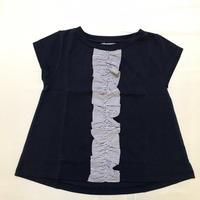 【新作SALE】Malvi&Co.(マルヴィー) ボーダーモチーフAラインTシャツ/ネイビー
