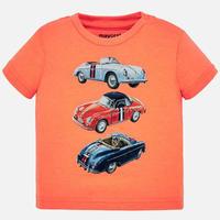 Mayoral(マヨラル)ベビー クラシックカーTシャツ/ネオンオレンジ
