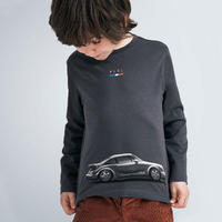 Mayoral(マヨラル)キッズ 丸首アンティークカープリントTシャツ/グレー