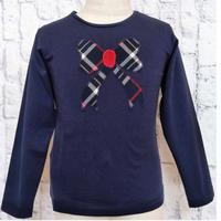 【SALE】Malvi&Co.(マルヴィー) リボンアップリケTシャツ/ネイビー