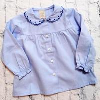 【SALE】Malvi&Co.(マルヴィー) ハート刺繍ブラウス/ブルー