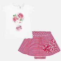 Mayoral(マヨラル)ベビー Tシャツとボーダースカートのセット/ピンク×ホワイト