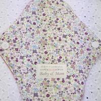布ナプキンMサイズ  あかね染  ネル 紫小花