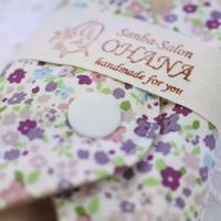 布ナプキンMサイズ  オーガニックコットン 紫小花