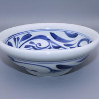砥部焼 玉縁鉢(中) 千山窯 唐草