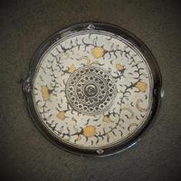 印花文金彩片口小皿《S皿1ig1》
