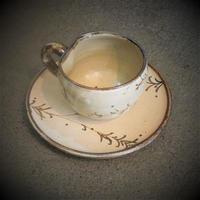 銹絵柳文コーヒー碗《S飲2s1》