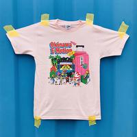 Okinawa E-Motion × Ms.Little Chico オリジナルTシャツ NO.1/ ピンク