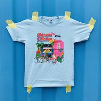 Okinawa E-Motion × Ms.Little Chico オリジナルTシャツ NO.1/ ブルー