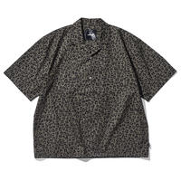 Oh!theGuilt / S/S LEOPARD OPEN COLLAR SHIRT( OLIVE)