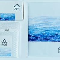 新島ブルーの包装紙