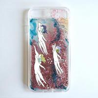 〈NADiff × MAKIKO TANAKA〉 GLITTER iPhone CASE(PINK)