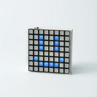 Hicarix Badge(BLUE) - アプリで書換え電光掲示板バッジ