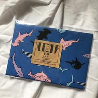 ポストカードが入る封筒【サメ】/akky