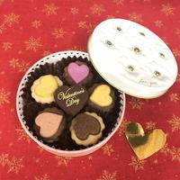 完売❤︎バレンタイン限定  バレンタインギフト缶《クッキー&チョコプレート入り》