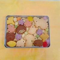 ★期間限定:数量限定★秋のクッキー缶(長方形缶:浅型)