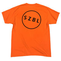 S Z B L POCKET TEE (NEON ORANGE×BLACK )