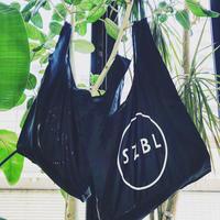 S Z B L SHOPPING BAG(BK×WH)