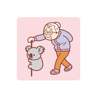 Koala : おばあちゃん シール