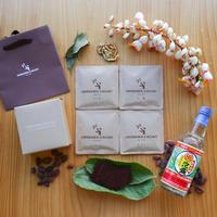 沖縄チョコレート4種ギフトセット (カラキ・シークヮーサー・月桃・泡盛まるた)  オリジナルバック付き
