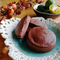 シークヮーサーの生チョコレートクッキーサンド