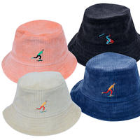 OK191-201  FALL DOWN SKATER  WIDE-WALE CORDUROY  HAT