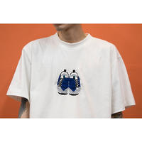 OK193-002SS    FOOT SCAPE  TEE(手刺繍)