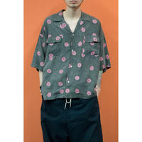 OK201-801 :  KISS MARK WIDEシルエットオープンカラーS/S-SHIRTS