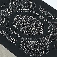 伊勢型紙の文庫箱 【八角縁起-fortune octagon-】黒-black-