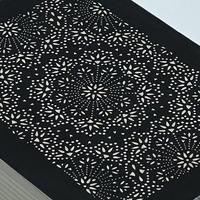 伊勢型紙の文庫箱 【メダリオン-medallion-】黒-black-