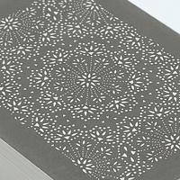 伊勢型紙の文庫箱 【メダリオン-medallion-】薄墨-gray-