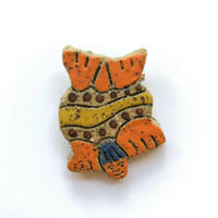 "Nick Norman handmade brooch ""swim"""