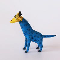 "Oaxaca Wood carving "" Bule Giraffe"""