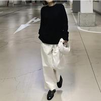 ワイドタックパンツ white