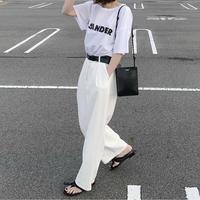 ワイドタックパンツ white(c_bottoms-00054)