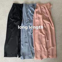 long length ワイドカラースラックス