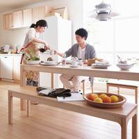 【WOODONE】無垢のテーブル colニュージーパイン L