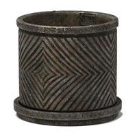 P.T.M.D Ruiten cement pot L silver 691458