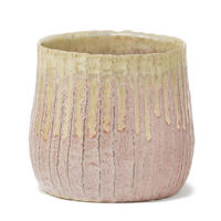Twill pink ceramic pot wz gr top round L 681138