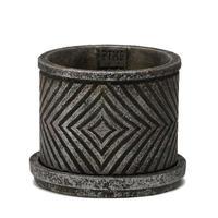 P.T.M.D Ruiten cement pot S silver 691457