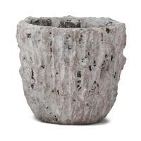 Rocky grey cement round pot XL 666936